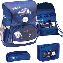 Belmil - Ryggsäcks Set - Police Junior 19 Liter Polyester Blå 4 Delar