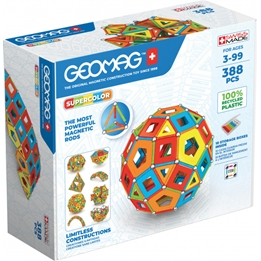 Geomag - Building Kit Super Color Recycled Masterbox 388 Pcs