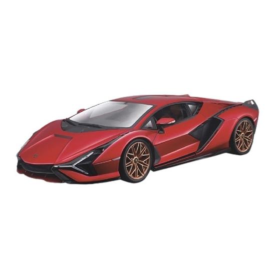 Bburago - Scale Model Lamborghini Sian Fkp 37 2019 1:18 Röd