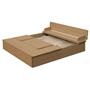 Roba - Sandlåda Med Bänk Junior 127 X 123,5 X 21,5 Cm Wood