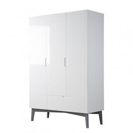 Roba - Garderob Retro-2 High Gloss Cm Vit