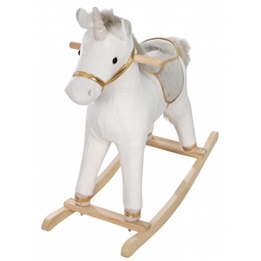 Roba - Gunghäst Unicorn 73 X 31 X 63 Cm Textile Vit