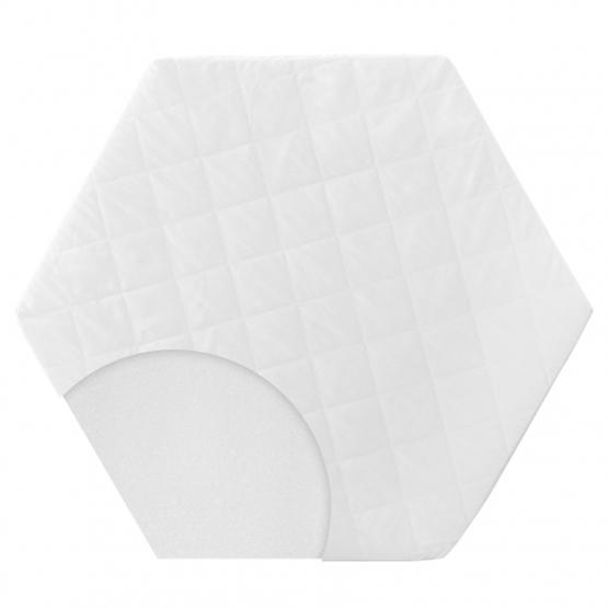 Roba - Lekmatta Hexagonal 112 X 97 X 4 Cm Vit 2 Delar