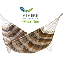 Vivere - Authentic Brazilian - Hängmatta Dubbel - Brazilwood