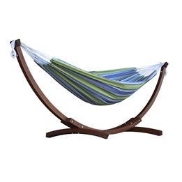 Vivere - Cotton Hammock With Solid Pine Stand (260 Cm) - Hängmatta Dubbel - Oasis