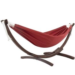 Vivere - Sunbrella Hammock With Solid Pine Stand (260 Cm) - Hängmatta Dubbel - Crimson