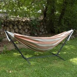 Vivere - Sunbrella Hammock With Stand (250 Cm) - Hängmatta Dubbel - Cameo