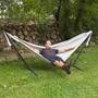 Vivere - Sunbrella Hammock With Stand (250 Cm) - Hängmatta Dubbel - Dove