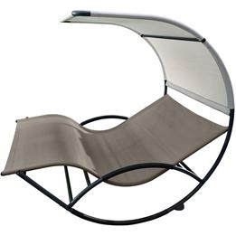 Vivere - Double Chaise Rocker - Aluminum