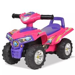 Åkbil Fyrhjuling Med Ljud Och Ljus Rosa Och Lila
