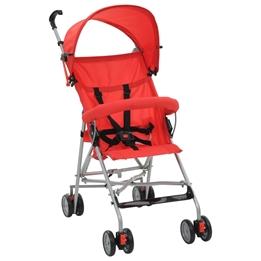 Barnvagn Hopfällbar Stål Röd