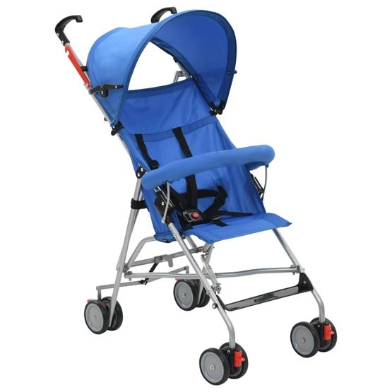 Barnvagn Hopfällbar Stål Blå