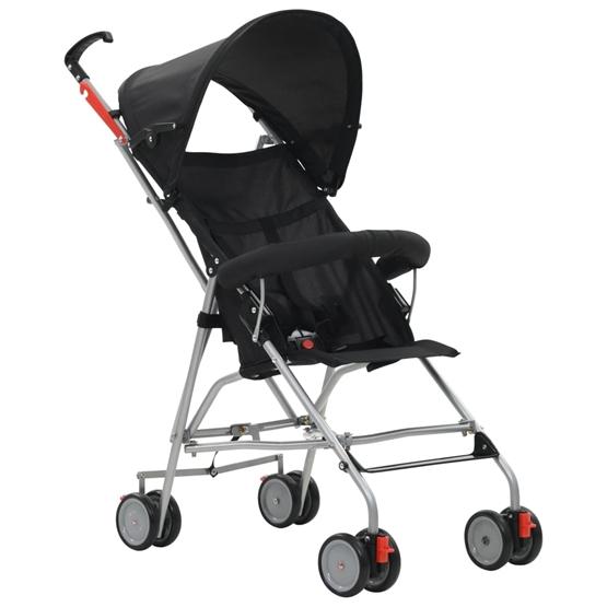 Barnvagn Hopfällbar Stål Svart