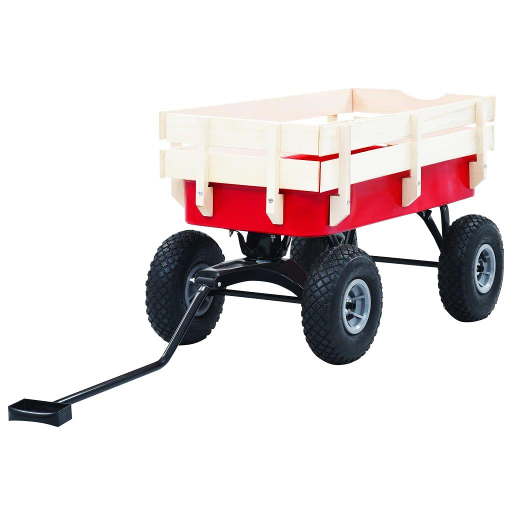 VidaXl Dragvagn 150 Kg Röd