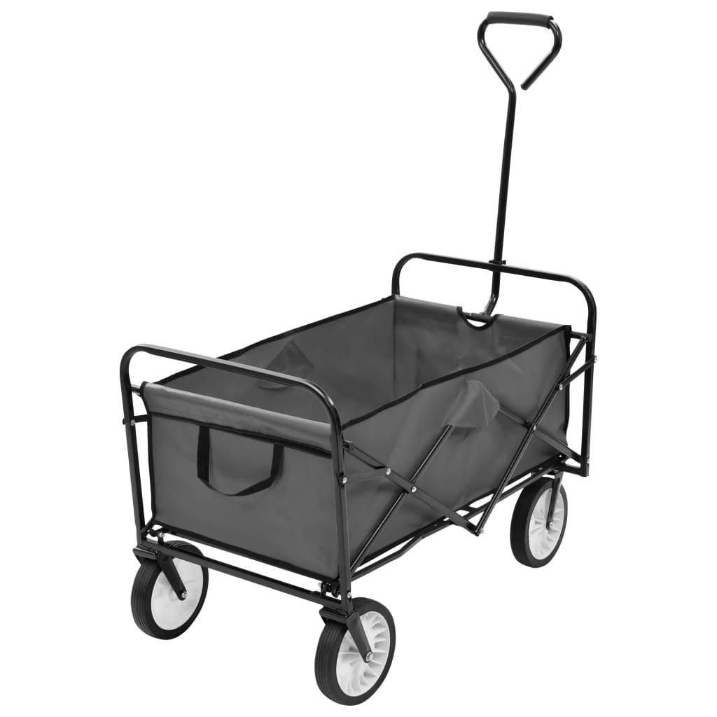 VidaXl Hopfällbar Handvagn Stål Grå