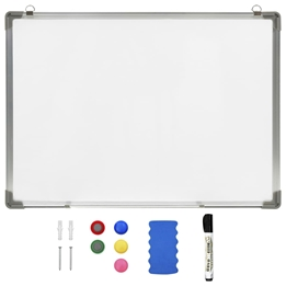 Magnetisk Whiteboard Vit 90X60 Cm Stål