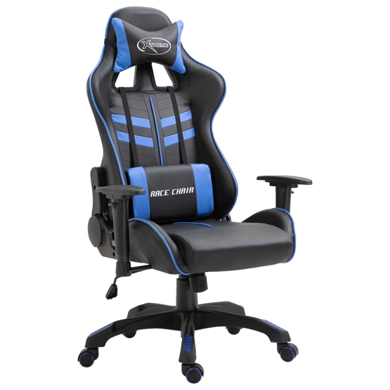 Gamingstol Mörkblå Konstläder