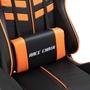 Gamingstol Med Fotstöd Orange/Svart Konstläder