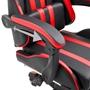 Gamingstol Med Fotstöd Röd Konstläder