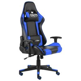 Snurrbar Gamingstol Blå Pvc