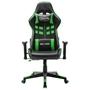 Gamingstol Svart Och Grön Konstläder