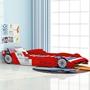 Barnsäng Racerbil Power 90X200 Cm Röd
