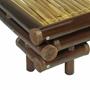 Sängram Mörkbrun Bambu 140X200 Cm