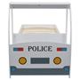 Barnsäng Polisbil Med Madrass 90X200 Cm 7 Zoner H3