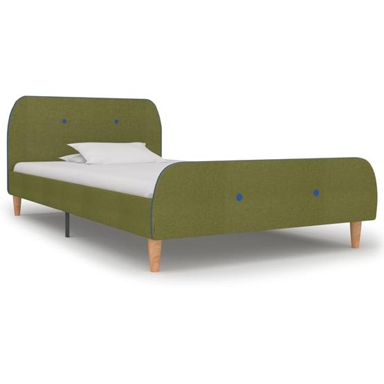 Sängram Grön Tyg