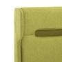 Sängram Med Led Grön Tyg