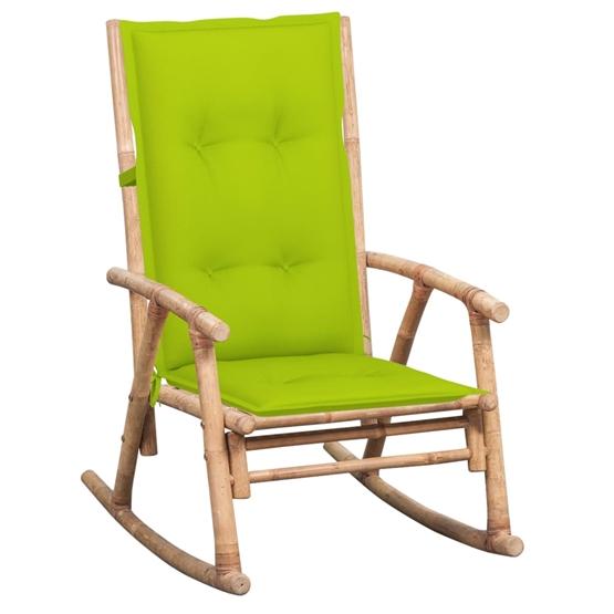 Gungstol Med Tjock Dyna Bambu - Ljusgrön