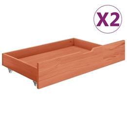 Sänglådor 2 St Honungsbrun Massiv Furu