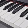 Digitalpiano Med Pedaler Och 88 Tangenter Melaminbräda Svart