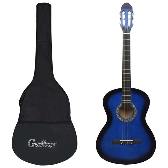 """Klassisk Gitarr 12 Delar Blå 4/4 39"""""""