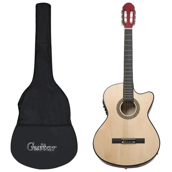 Gitarr 12 Delar Med Eq-Pedal 6 Och Strängar Western