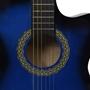 Akustisk Westerngitarr Med Cutaway Eq-Pedal Och 6 Strängar Blå