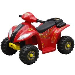 Elektrisk Fyrhjuling För Barn Röd Och Svart