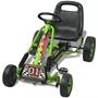 Gokart Med Pedal Och Justerbart Säte Grön
