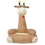 Barnstol I Plysch Giraff Brun