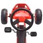 Pedaldriven Gokart Med Luftdäck Röd