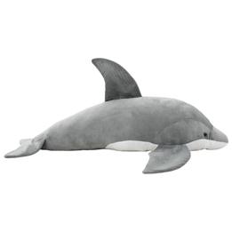 Gosedjur Delfin I Plysch Grå