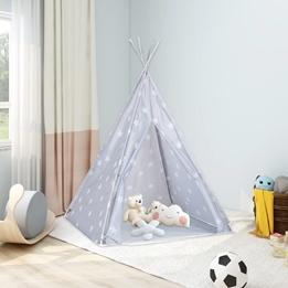 Tipitält För Barn Polyester Med Väska Grå 115X115X160 Cm