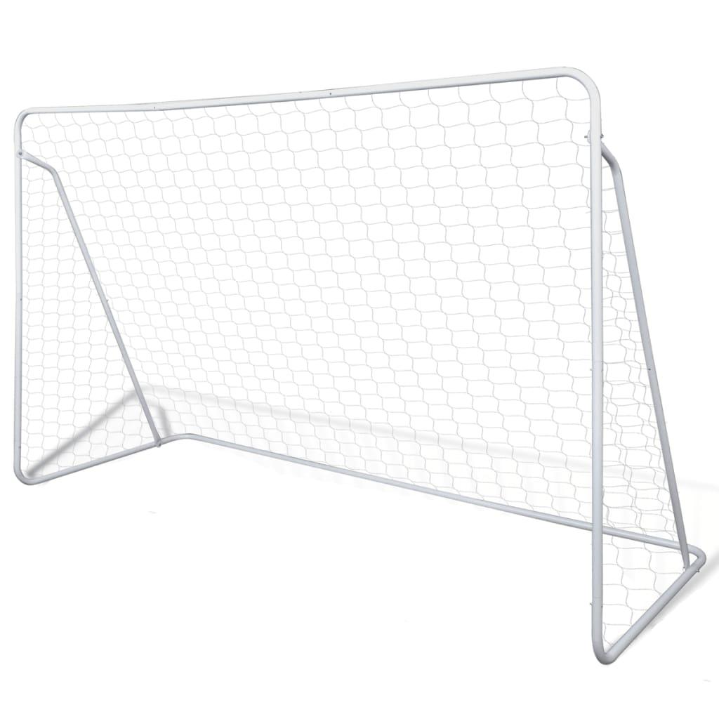 VidaXl Fotbollsmål I Stål Med Nät 240 X 90 X 150 Cm
