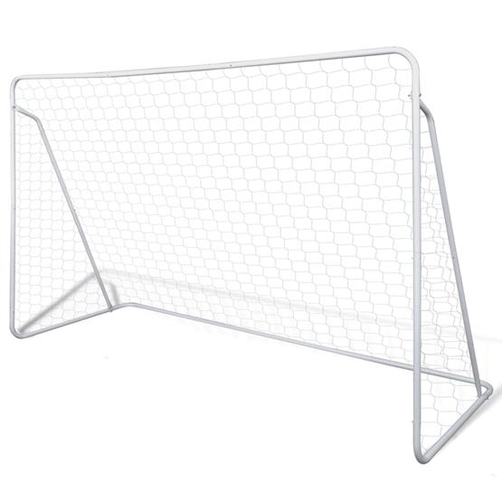 Fotbollsmål I Stål Med Nät 240 X 90 X 150 Cm
