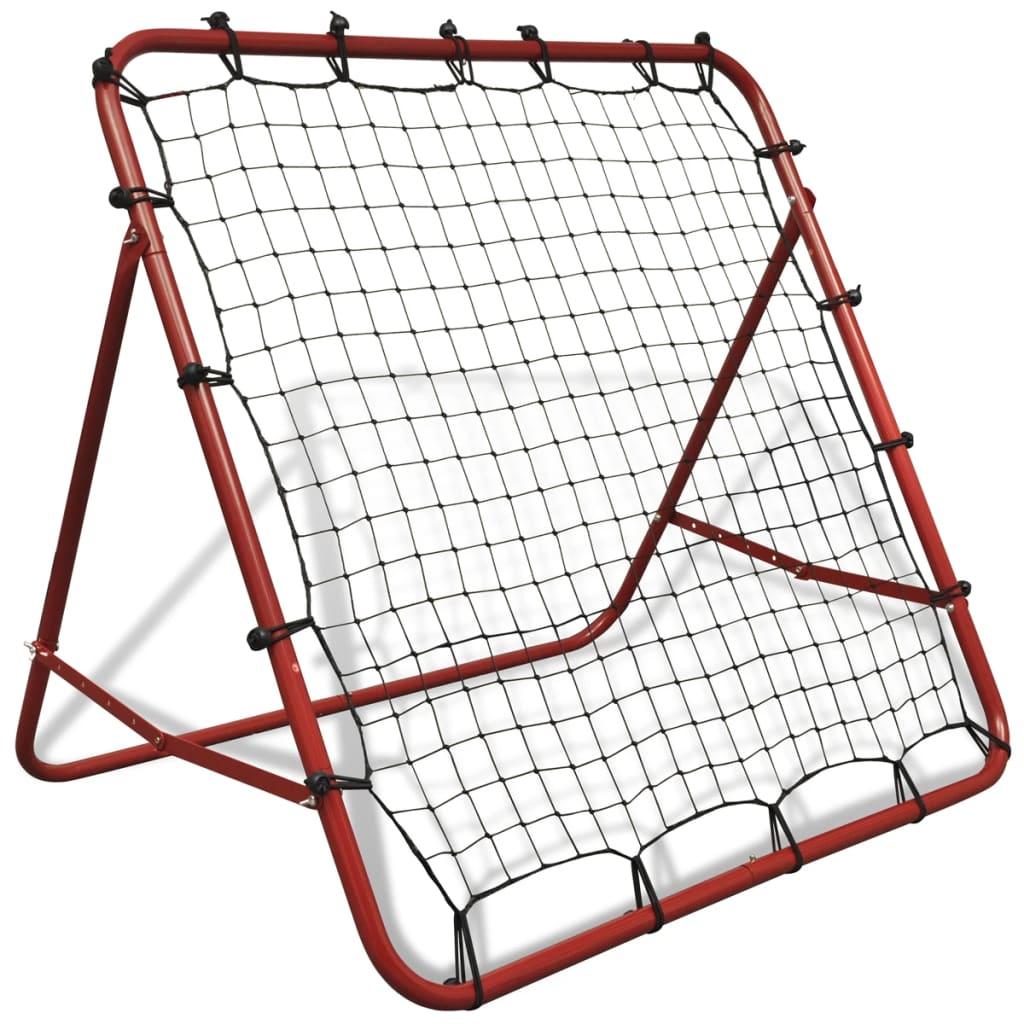 VidaXl Justerbart Fotbollsmål Kickback Rebounder 100 X 100 Cm