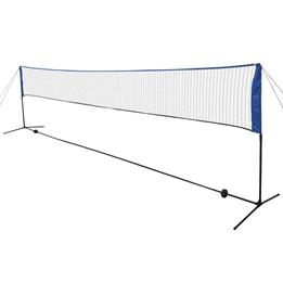 Badmintonnät Med Badmintonbollar 600X155 Cm