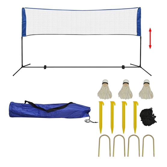 Badmintonnät Med Fjäderbollar 300X155 Cm
