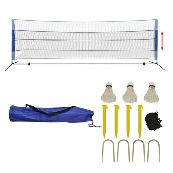 Badmintonnät Med Fjäderbollar 500X155 Cm