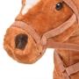 Stående Leksakshäst Plysch Brun