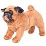 Stående Leksakshund Mops Plysch Ljusbrun Xxl